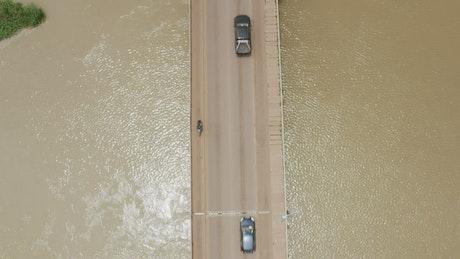 Bridge across a river in Mali