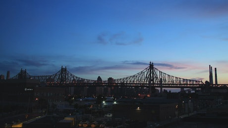 Bridge along New York
