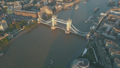 Bridge in the City of London during sunrise