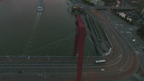Bridge traffic in Rotterdam