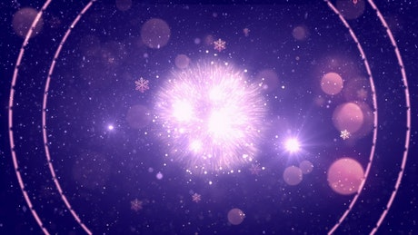 Bright countdown for new year on purple background