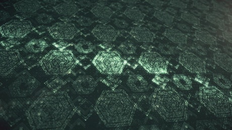 Bright green figures surface texture