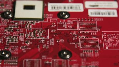 Bright red circuit board