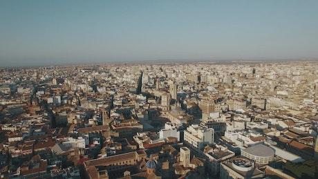 Bright sun across Valencia