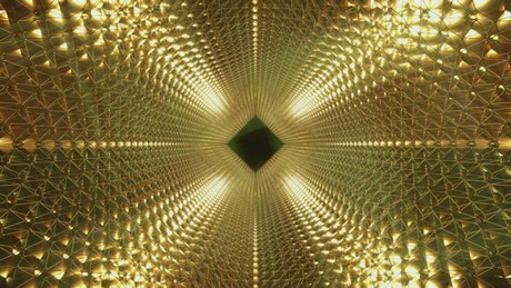 Bright tunnel with golden walls