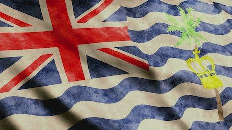 British Indian Ocean Territory 3D flag waving