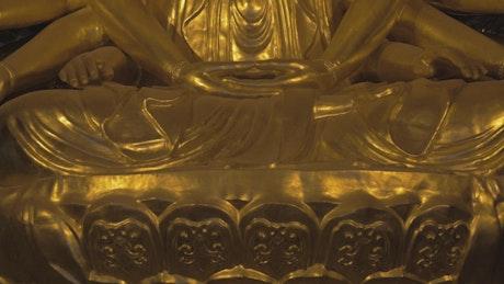 Bronze Buddhist Statue in a temple