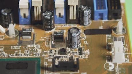 Brown computer board