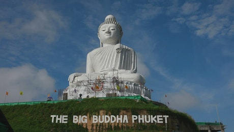 Buddha monument on the top of a hill