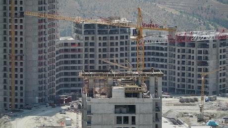 Building construction time lapse