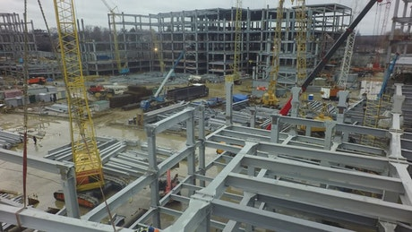 Building frames in a construction site