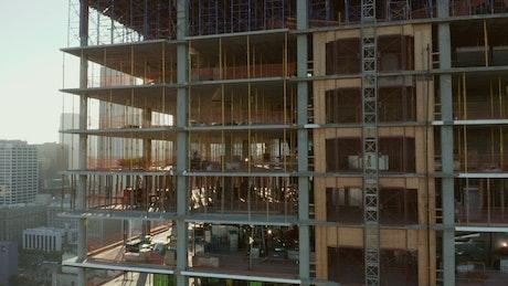Building under construction in Los Angeles