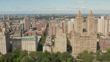 Buildings along Central Park in New York City