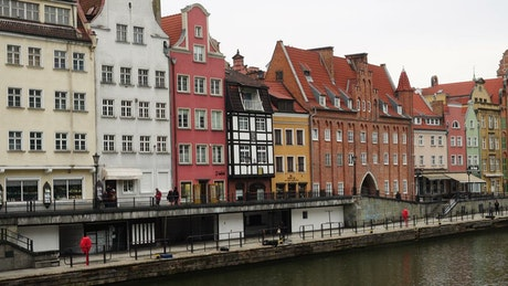 Buildings and houses by the river