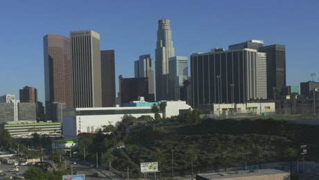 Buildings and urban area in Los Angeles