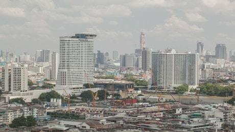 Buildings under construction in Thailand