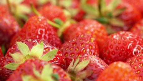Bunch of strawberries rotating
