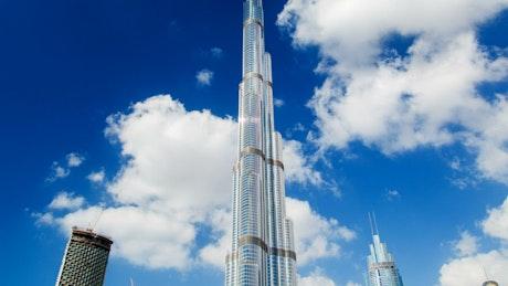 Burj Khalifa skyscraper time lapse