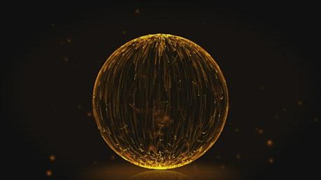 Burning sphere