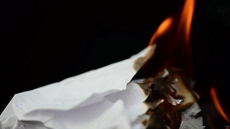 Burning white paper