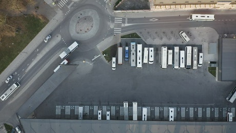 Bus station from above