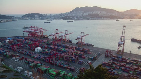 Busan containerport time lapse