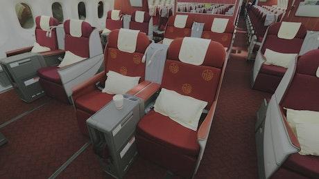 Business Class on a passenger plane