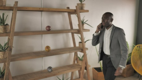 Business man having a call