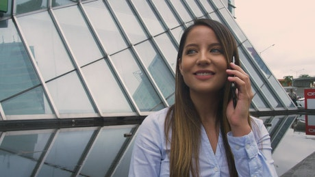 Business Woman having a phone call