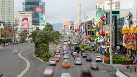 Busy Avenue in Las Vegas