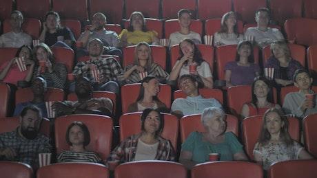 Busy cinema seats