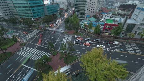 Busy roads in South Korea