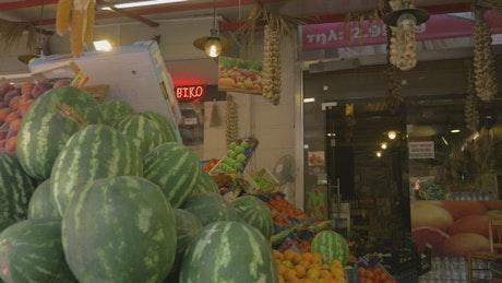 Buying fruit on vacation