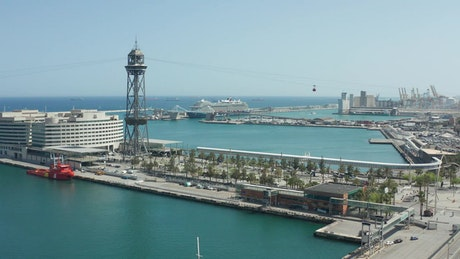 Cable Car above the port