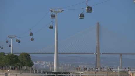 Cable Cars in Lisbon