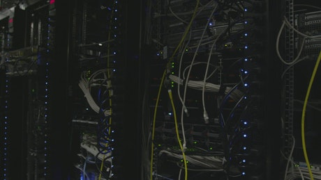 Cables in a datacenter