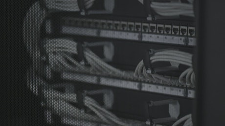 Cables in a server room