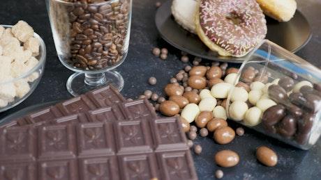 Cakes and chocolate treats