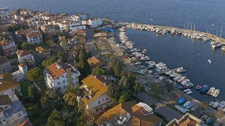 Calm marina waters in Istanbul