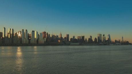 Calm morning by Manhattan