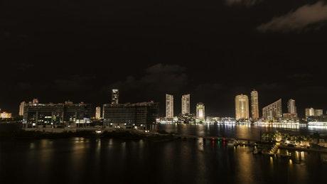 Calm night over Miami