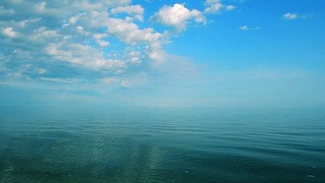 Calm ocean across the horizon