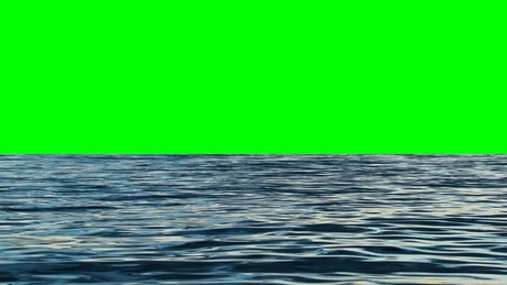 Calm sea with a chroma background in the skyline