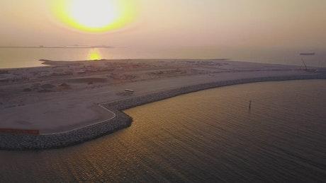 Calm water off the coast of Dubai