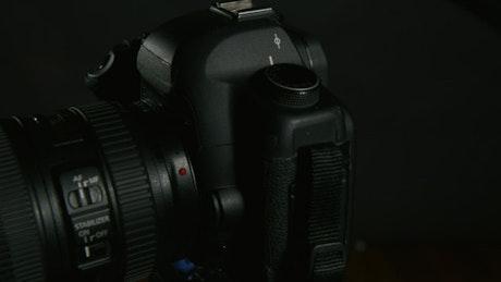 Camera setup in a studio