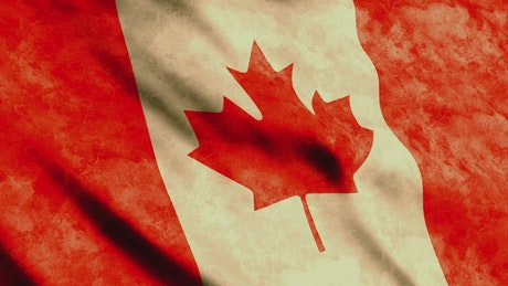 Canada faded 3D flag