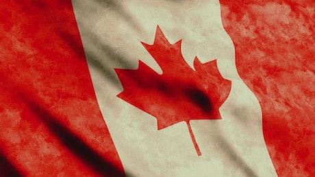 Canada flag waving