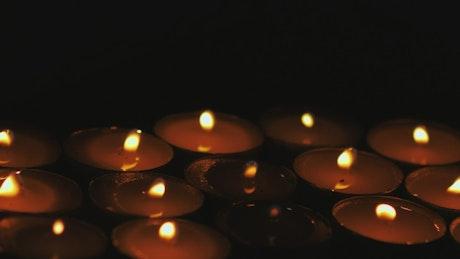 Candles lighting detail views