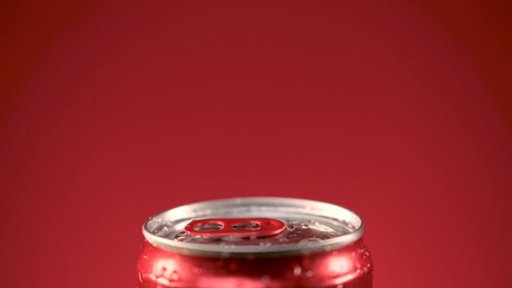 Canned soda is uncovered