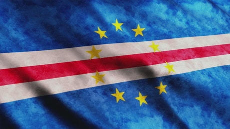 Cape Verde Flag in 3D animation
